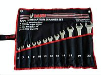 Набор ключей рожково-накидных на полотне 12 пр. (6-22 мм) 30-12M Baum
