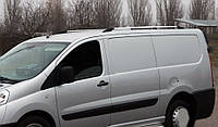 Peugeot Expert Рейлинги ХРОМ пластиковые ножки на короткую базу, фото 1