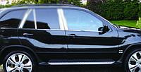 BMW X-5 E53 Нижние молдинги стекол (нерж.) 6 шт., фото 1