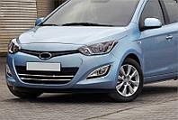 Hyundai I20 2011-2021 Полоски на решетку (нерж.)