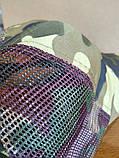 Кепка Камуфляжна К01 з сіточкою без нашивок, фото 4