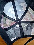 Кепка Камуфляжна K02 з сіточкою без нашивок, фото 3