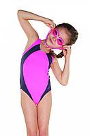 Купальник для девочки Shepa 009 128 Розовый с серым (sh0325)
