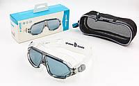 Очки-полумаска для плавания MadWave SIGHT II M046301 Silver (SP00087)