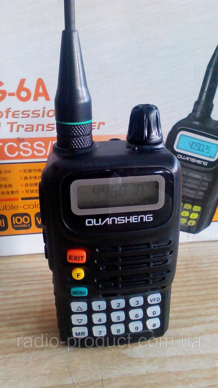 Рация, Quansheng TG-6A UHF, радиостанция 400-470 МГц, 4 Вт