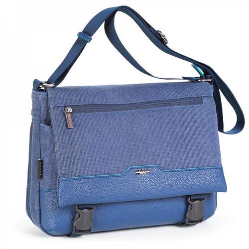 Удобная  женская молодежная сумка через плечо Dolly (Долли) 642 синий