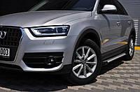 Peugeot Partner 2019-2021 Бічні пороги Allmond Grey