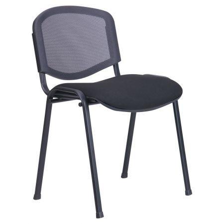 Стілець Ізо Веб чорний сидіння А-1/Сітка чорна спинка