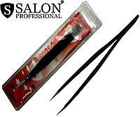 Пинцеты косметические SALON PROFESSIONAL (прямые) для наращивания ресниц