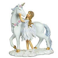 Декоративна скарбничка Бик, 18см, колір - срібло (843-119)