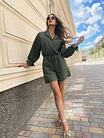 Жіночий комбінезон оливкового кольору SKL11-292717