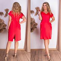Платье женское атлас коралл SKL11-289964