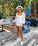 Жіночий літній комбінезон білого кольору SKL11-291473