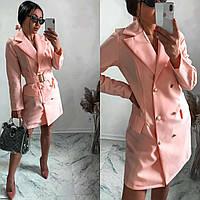 Платье-жакет с поясом SKL11-292366