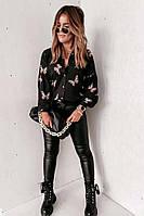 Сорочка жіноча чорна з метеликами SKL11-290520