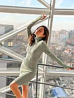 Женское платье Лиза рубчик оливкового цвета SKL11-292393
