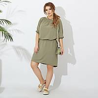 Женское платье оливкового цвета SKL11-290961