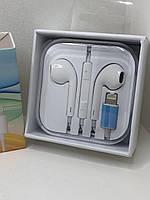 Наушники для Apple iPhone 7 Plus(2016)Белый с регулировкой громкости 3.5mm Lighting