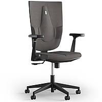 Кресло KULIK SYSTEM SPACE Ткань без подголовника без строчки Серебристый 19-909-BS-MC-0505, КОД: 1697060