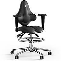 Кресло KULIK SYSTEM KIDS Кожа с подголовником без строчки Черный 15-901-BS-MC-0101, КОД: 1689623
