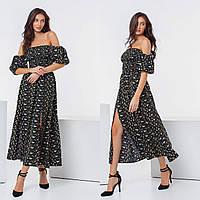 Платье красивое в цветочек длинное новинка 2021