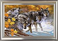 """Схема для вышивки бисером """"Волки"""""""