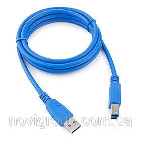 Кабель USB 3.0 AM / BM 3,0 м blue для периферії