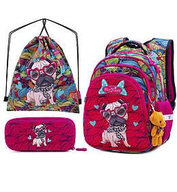 Рюкзак школьный для девочек SkyName R2-174 Full Set
