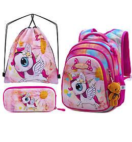 Рюкзак школьный для девочек SkyName R2-175 Full Set
