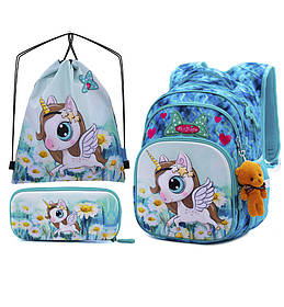 Рюкзак школьный для девочек SkyName R3-228 Full Set