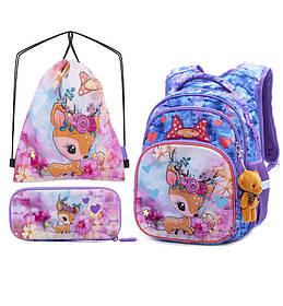 Рюкзак школьный для девочек SkyName R3-230 Full Set
