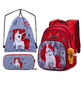 Рюкзак школьный для девочек SkyName R3-233 Full Set