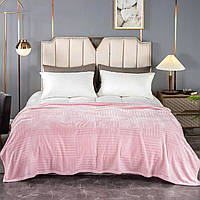Покрывало плед микрофибра на диван Шахматка, Розовый, 150х200