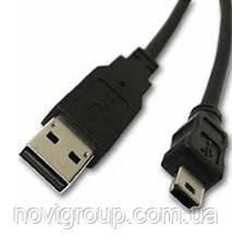 Кабель USB 2.0 (AM / Mini 5 pin) 0.4м, чорний