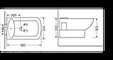 Підвісне біде Devit Comfort 2020123, 580х370х335 мм, фото 2