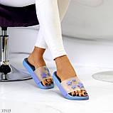 Ошатні блакитні анатомічні легкі силіконові шльопанці декор зірки, фото 6