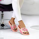 Нарядные розовые пудра анатомические легкие силиконовые шлепки декор звезды, фото 2