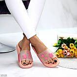 Нарядные розовые пудра анатомические легкие силиконовые шлепки декор звезды, фото 4