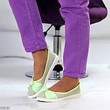 Невагомі жіночні салатові текстильні тканинні балетки в асортименті, фото 6