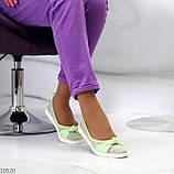 Невагомі жіночні салатові текстильні тканинні балетки в асортименті, фото 7