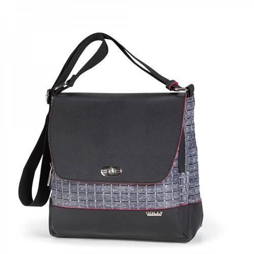 Прочная  женская молодежная сумка через плечо Dolly (Долли) 643 черный