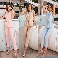 Жіночий літній костюм з брюками новинка 2021