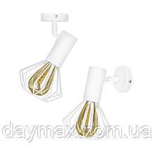 Светильник лофт MSK Electric Diadem настенно-потолочный NL 22151-1W белый
