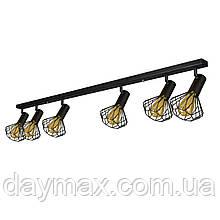 Світильник лофт MSK Electric Diadem стельовий NL 22151-6 BK