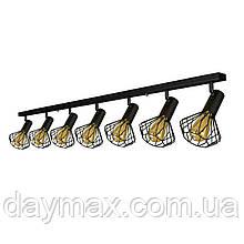 Світильник лофт MSK Electric Diadem стельовий NL 22151-7 BK