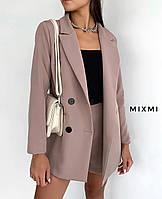 """Піджак жіночий класичний подовжений, розмір 42-46 (5кол) """"MIXMI"""" купити недорого від прямого постачальника"""