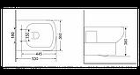 Підвісний унітаз Devit Comfort 3020123, 532х360х382 мм, фото 2