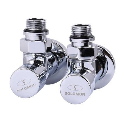 Кран кутовий вентильний SOLOMON CHROM LUX (набір 2шт )