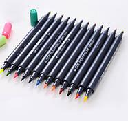 Набор двусторонних акварельных маркеров на водной основе STA 24 цвета (B141019) маркеры для художников, фото 2