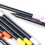 Набір двосторонніх акварельних маркери на водній основі STA 24 кольору (B141019) маркери для художників, фото 3